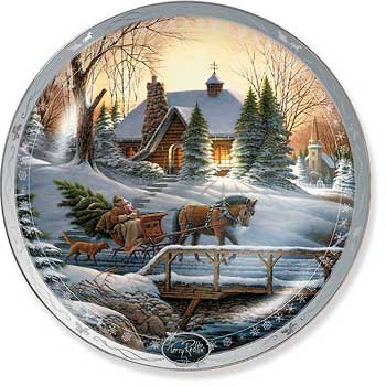 terry redlin holiday plates terry redlin christmas plates collectible christmas plates decorative christmas plates christmas decorations - Decorative Christmas Plates