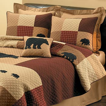 Bear Retreat Quilted Bed Set Wild Wings