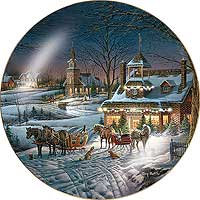 evening rehearsals 8 14 collector plate by terry redlin
