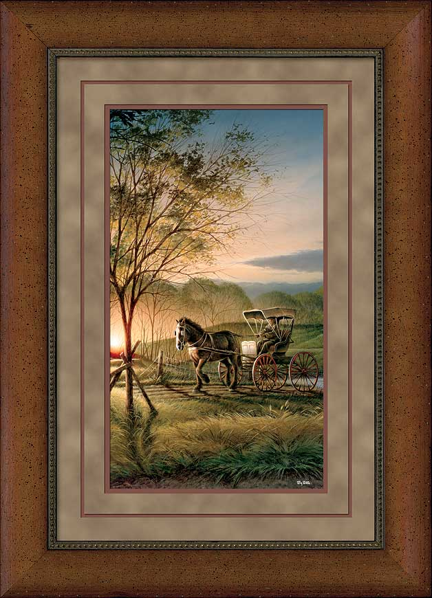 Morning Rounds Premium Framed Print by Terry Redlin   Wild Wings