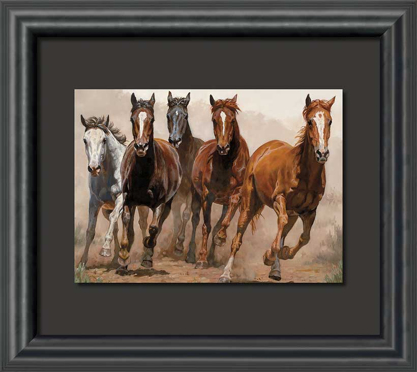Horse Art; Break Away Framed Print by Chris Cummings | Wild Wings