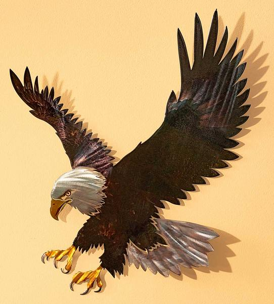 Majestic Bald Eagle Indoor/Outdoor Metal Wall Art | Wild Wings