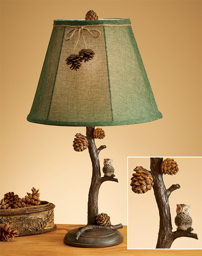 Pine branch owl table lamp wild wings 5073611530 pine branch owl table lamp aloadofball Choice Image