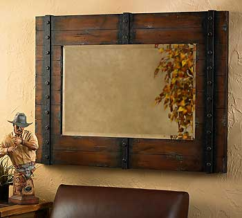 Delicieux Rustic Distressed Western Mirror