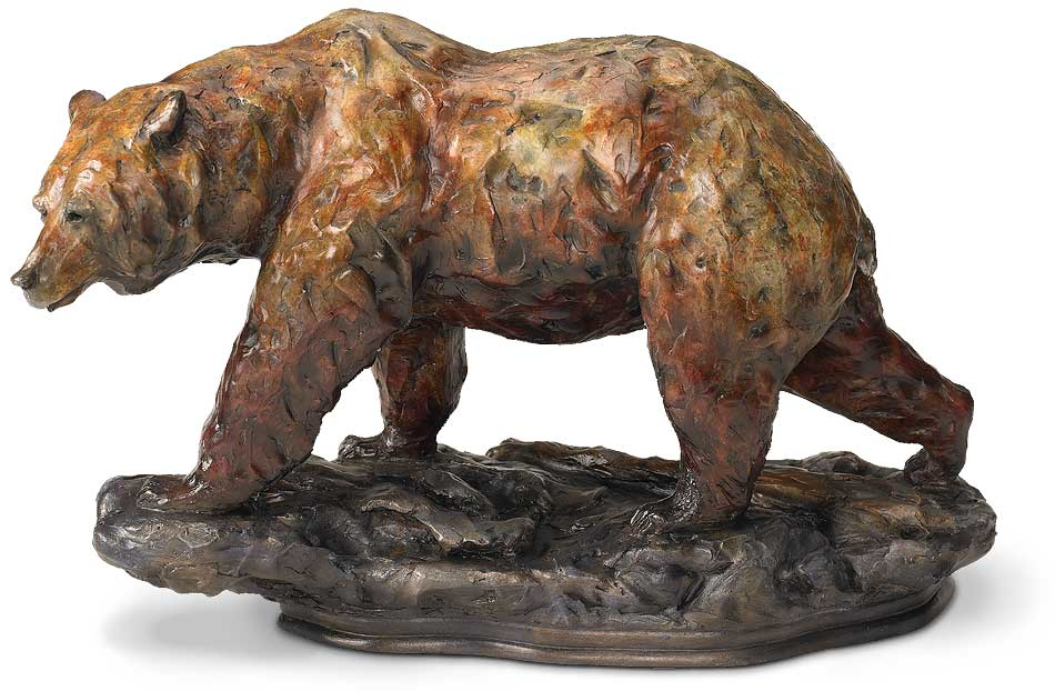 6567730675:One Step-Grizzly Bear Sculpture by Danny Edwards