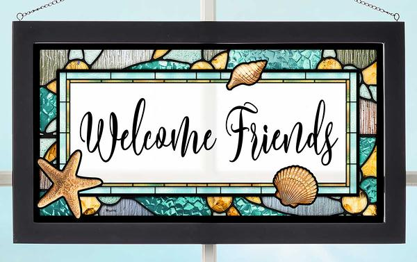 Welcome Friends Stained Glass Art by Rosemary Millette | Wild Wings